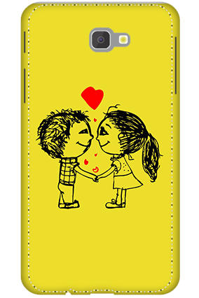 3D - Samsung Galaxy J7 Prime Adorable Couple Mobile Covers