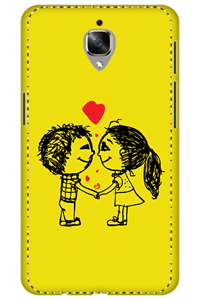 3D - OnePlus 3T Adorable Couple Mobile Covers