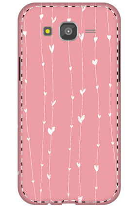3D - Samsung Galaxy J5 Hanging Heart Mobile Covers
