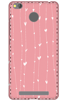 3D - Xiaomi Redmi 3S Prime Hanging Heart Mobile Covers
