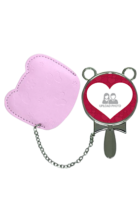 Customizable With Pouch Cover Hand Mirror With Leather Case