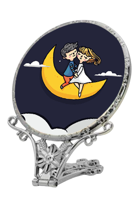 Love On Moon Antique Standing Mirror
