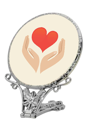 Love And We Antique Standing Mirror