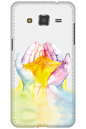 3D - Samsung Galaxy J2 Colorful Hand Mobile Cover