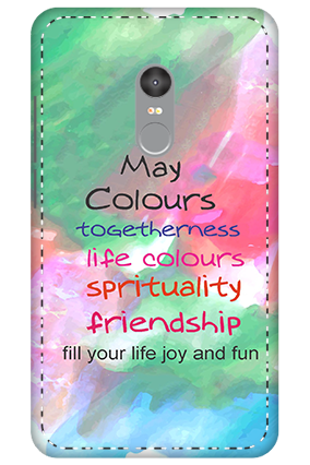 3D - Xiaomi Redmi Note 4 Holi Quotation mobile covers