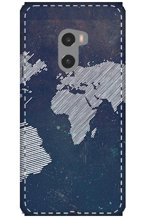 3D - Xiaomi Mi Mix 2 Earth Globe Design Mobile Cover