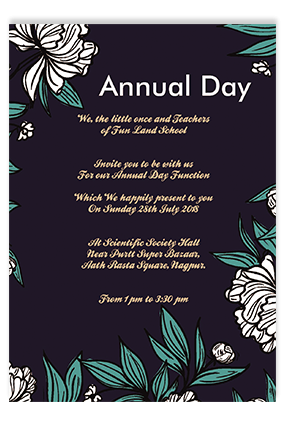 Annual Day Invitation Cards Buy Annual Day Invites Cards Online