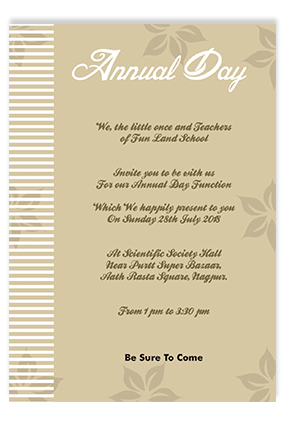 Annual Day Invitation Cards