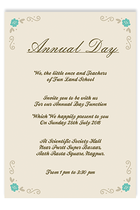Annual Day Invitation Cards Buy Annual Day Invites Cards