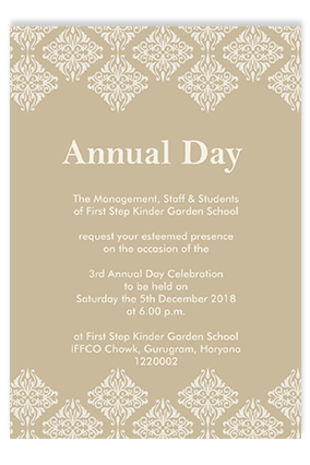 Annual Day Invitation Cards - Buy Annual Day Invites, Cards