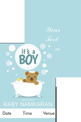 It's a boy Namkaran Invitation Card