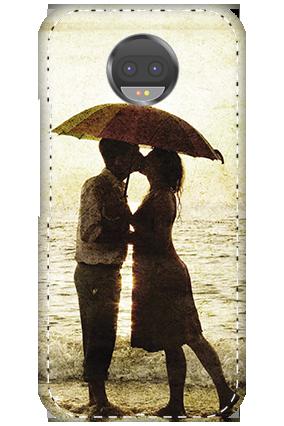 3D - Motorola Moto G5s Plus White High Grade Plastic Lovely Couple Mobile Cover