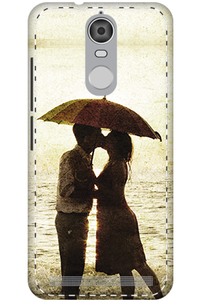 3D - Lenovo K5 Note Mobile Cover White High Grade Plastic Lovely Couple Mobile Cover