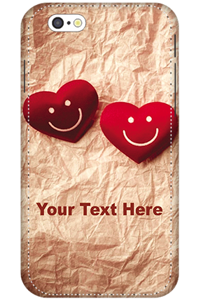 3D - iPhone 6 White High Grade Plastic Smiley Heart Mobile Cover