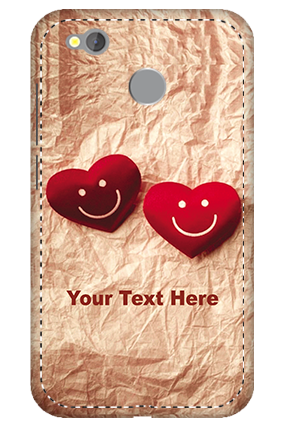 3D - Redmi 4 White High Grade Plastic Smiley Heart Mobile Cover