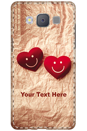 Designer 3D-Samsung Galaxy A5 2015 White High Grade Plastic Smiley Heart Mobile Cover