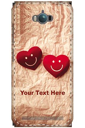3D - Asus Zenfone Max ZC550KL White High Grade Plastic Smiley Heart Mobile Cover