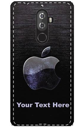 3D -Lenovo K8 Note White High Grade Plastic Black Apple  Mobile Cover