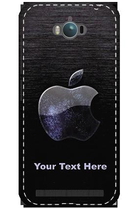 3D - Asus Zenfone Max ZC550KL White High Grade Plastic Black Apple  Mobile Cover