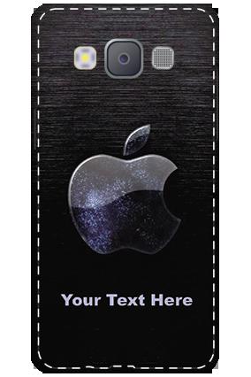 Printed 3D-Samsung Galaxy A5 2015 White High Grade Plastic Black Apple Mobile Cover