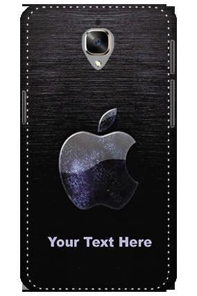 3D - Oneplus 3T White High Grade Plastic Black Apple  Mobile Cover