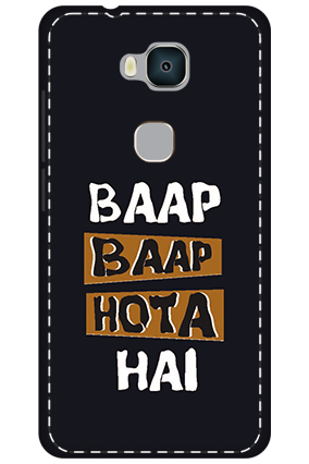 3D - Huawei Honor 5X White High Grade Plastic Baap Baap Hota Hai Mobile Cover