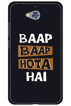 3D - Gionee S6 Pro White High Grade Plastic Baap Baap Hota Hai Mobile Cover