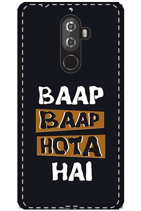 3D -Lenovo K8 Note White High Grade Plastic Baap  Baap Hota Hai Mobile Cover