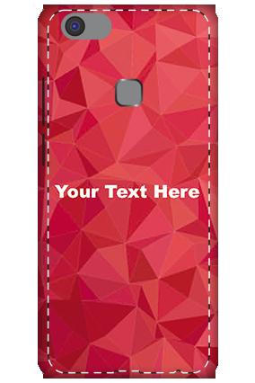 3D -Vivo V7 Plus  White High Grade Plastic Crystal Red  Mobile Cover