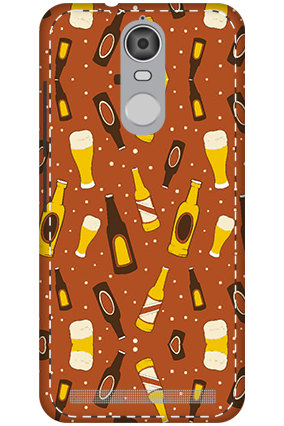 3D - Lenovo K5 Note Mobile Cover White High Grade Plastic Beer Bottles  Mobile Cover