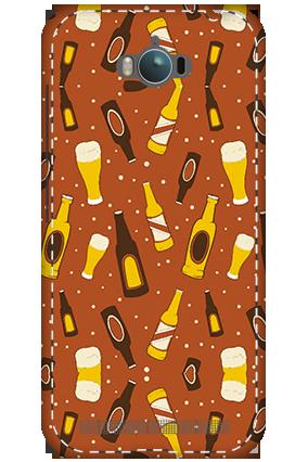 3D - Asus Zenfone Max ZC550KL White High Grade Plastic Beer Bottles Mobile Cover