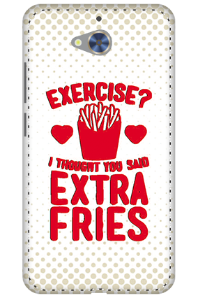 3D - Gionee S6 Pro White High Grade Plastic Extra Fries Mobile Cover