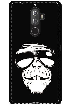 3D -Lenovo K8 Note White High Grade Plastic Funky Monkey Mobile Cover