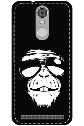 Custom 3D-Lenovo K5 Note Mobile Cover White High Grade Plastic Funky Monkey Mobile Cover