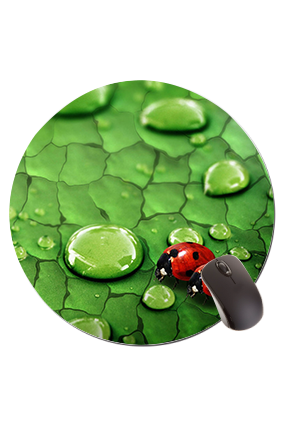 Red Bugs Round Mouse Pad