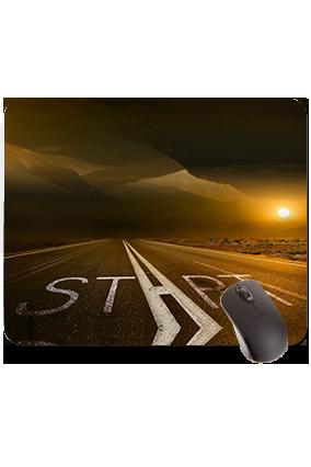 Start Road Rectangular Mouse Pad