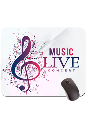 Music Rectangular Mouse Pad