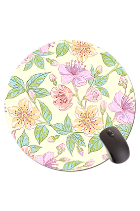 Floral Round Mouse Pad