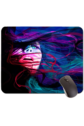 Blue Eye Girl Rectangular Mouse Pad