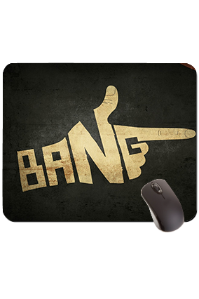 Bang Rectangular Mouse Pad