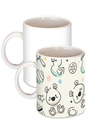 Awesome Kids Toys White Ceramic Kids Coffee Mug