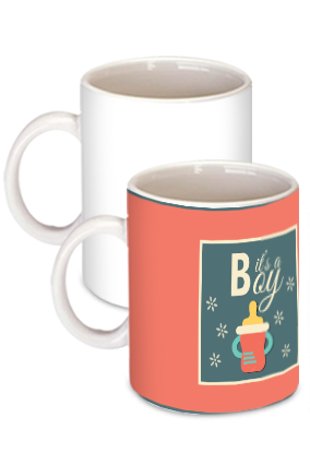 Amazing It's a Boy White Ceramic Kids Coffee Mug