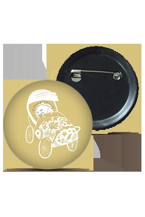 Customized Baby Buggy Round Kid's Badges