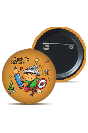 Back To School Round Kid's Badges
