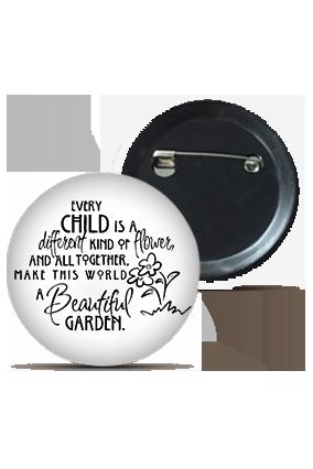 Customized Childerns Are Beautiful Round Shape Kids Badges