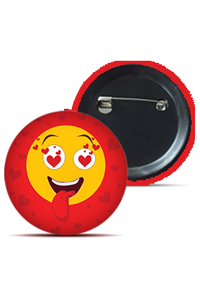 Madly In Love Round Shape Kids Badges