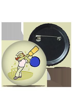 Cricket Lovers Round Shape Kids Badges