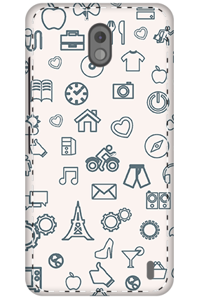3D - Nokia 2 Iconic Pattern Mobile Cover