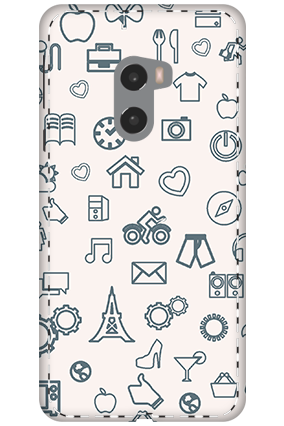3D - Xiaomi Mi Mix 2 Iconic Pattern Mobile Cover
