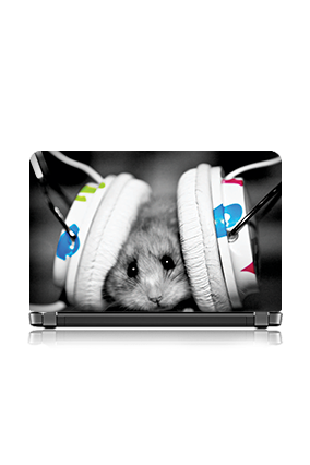 Mouse Listening Song Laptop Skin